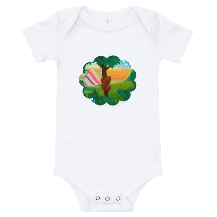 Baby One Piece - Window to the World White / 3-6m
