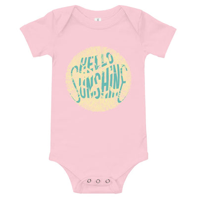 Baby Short Sleeve 100% Cotton One Piece - 6-24M - Hello Sunshine Pink / 3-6m
