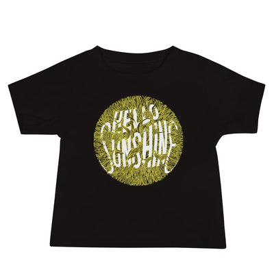 Baby Short Sleeve 100% Cotton T-shirt - 6-24M - Hello Sunshine Black / 6-12m