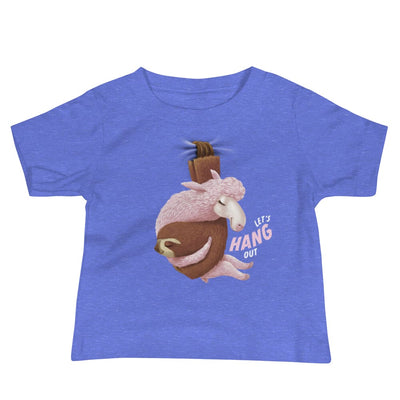 Baby Short Sleeve T-shirt - 6-24M - Lets Hang Out Heather Columbia Blue / 6-12m