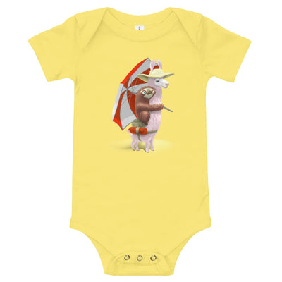 Beach Baby Body Yellow / 3-6m
