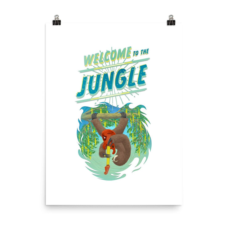 Beautiful Poster - heavyweight Matt Paper Print - Welcome to the Jungle 18×24