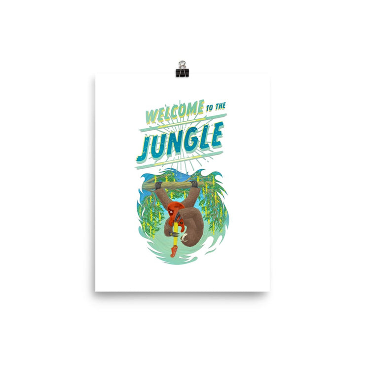 Beautiful Poster - heavyweight Matt Paper Print - Welcome to the Jungle 8×10
