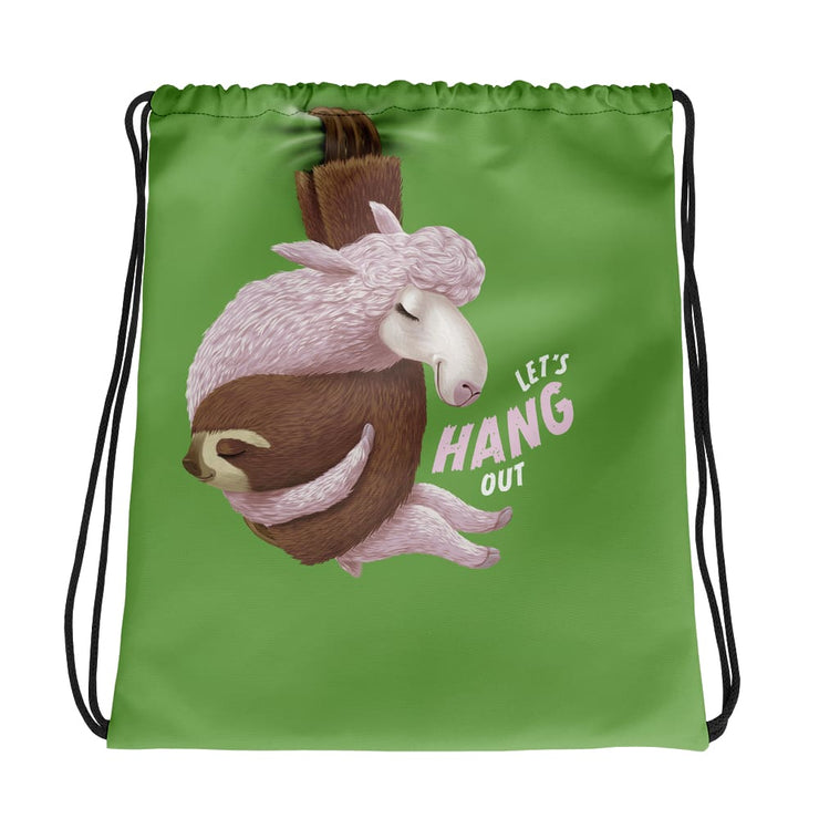 Drawstring bag - Lets Hang Out - Green