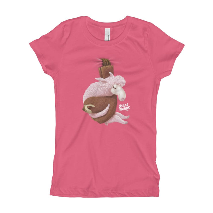 Girls Slim Fit T-Shirt - Ages 7-15 - Lets hang out Hot Pink / XS