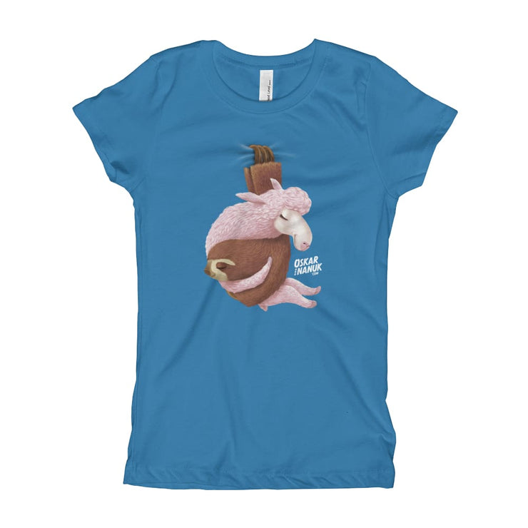 Girls Slim Fit T-Shirt - Ages 7-15 - Lets hang out Turquoise / XS