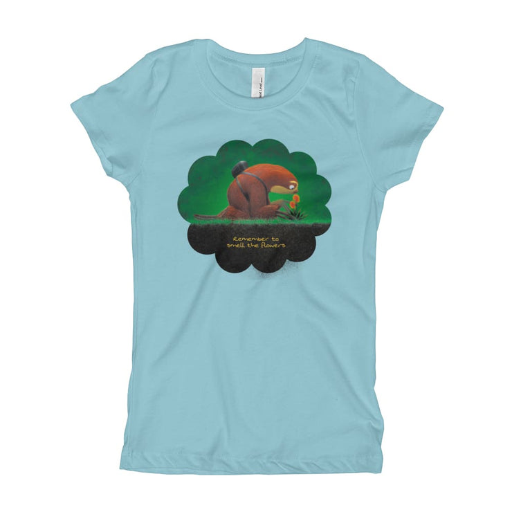Girls Slim Fit T-Shirt - Ages 7-15 - Smell the flowers Cancun / XS