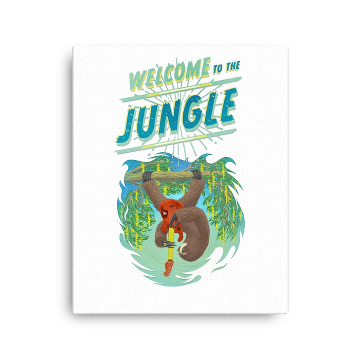 Hand-stretched Canvas Print - Welcome to the Jungle 16×20