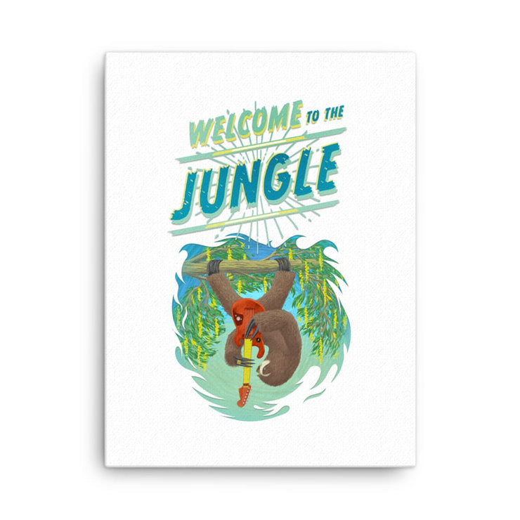Hand-stretched Canvas Print - Welcome to the Jungle 18×24