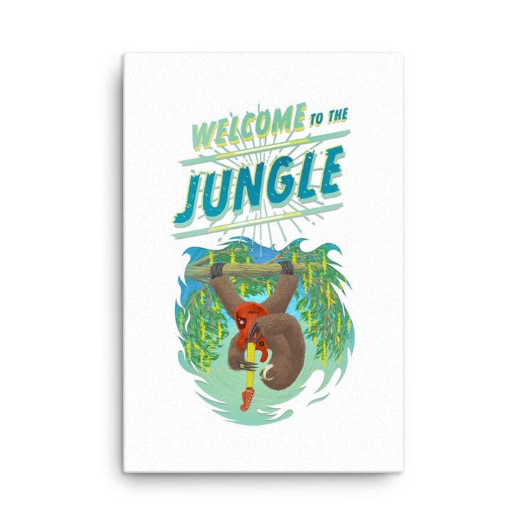 Hand-stretched Canvas Print - Welcome to the Jungle 24×36