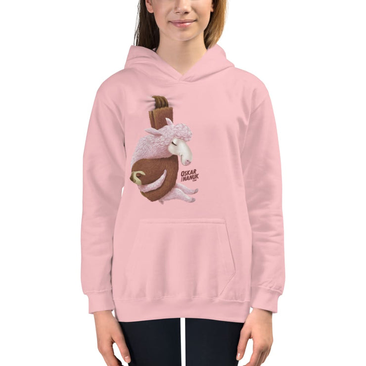 Kids Hanging Out Hoodie Baby Pink / XS