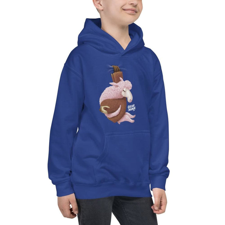 Kids Hanging Out Hoodie Black & Blue