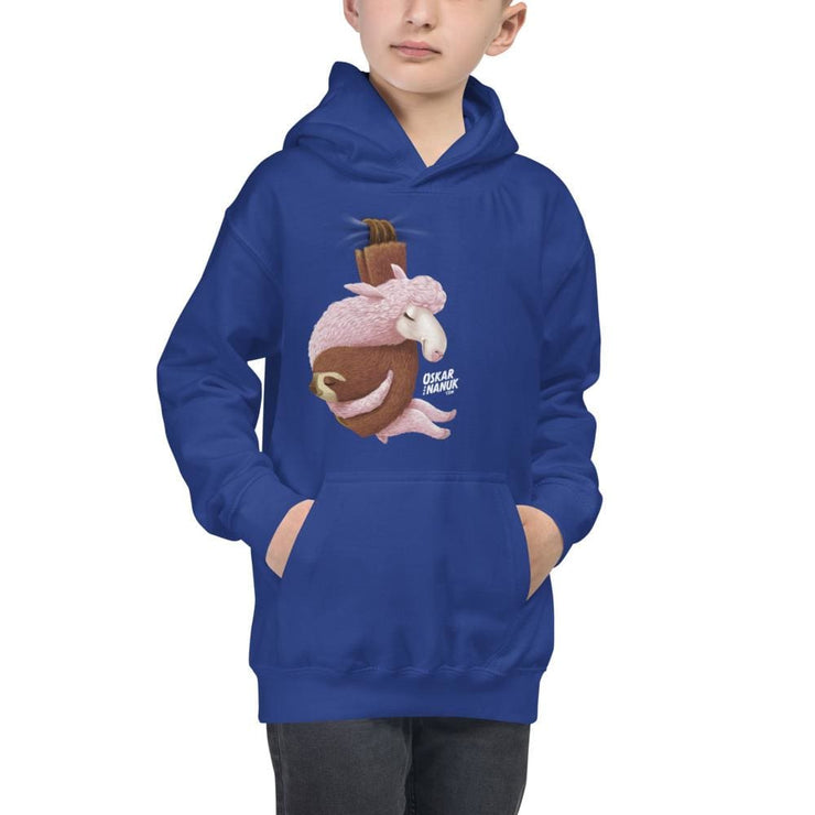 Kids Hanging Out Hoodie Black & Blue Royal Blue / XS