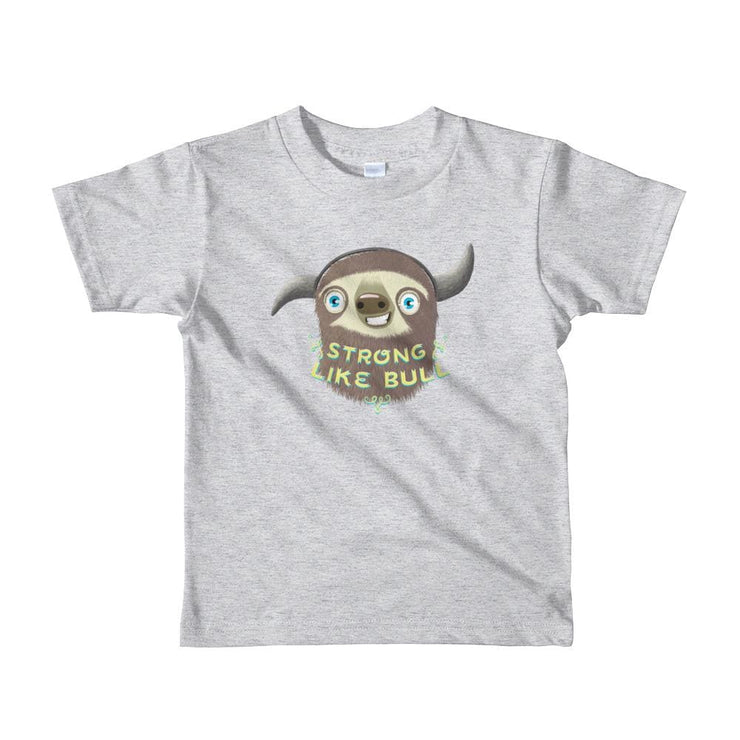 Kids T-shirt - Full colour - Size 2-6 - Strong like Bull Heather Grey / 2yrs