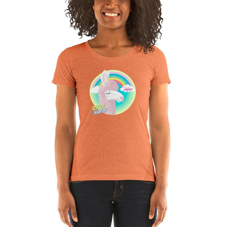 Mums Short-Sleeve Form Fitting T-Shirt - Hello Lovely Orange Triblend / S