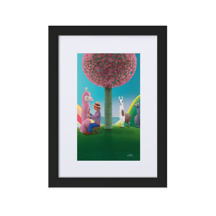 Print - Matte Paper Framed Poster With Mat board Black / 21×30 cm