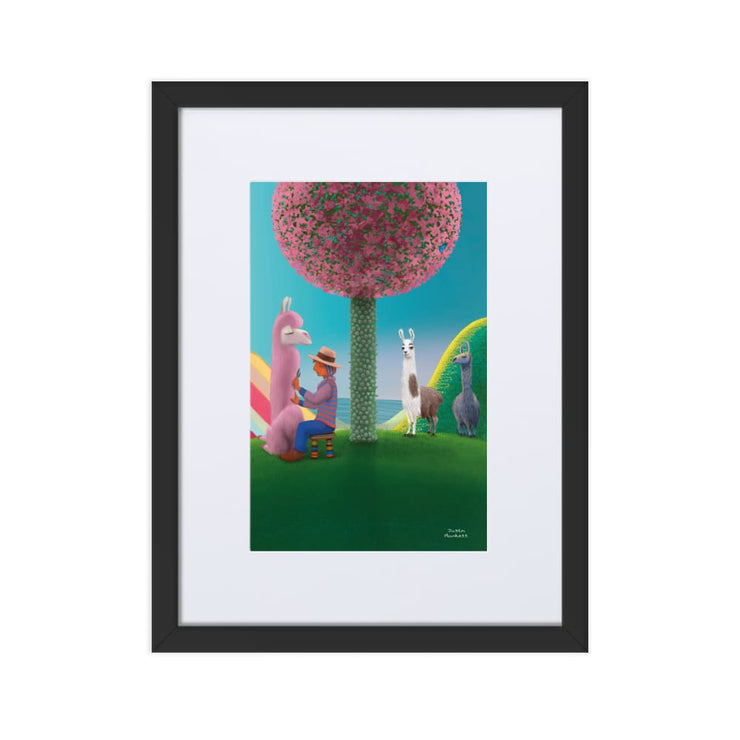 Print - Matte Paper Framed Poster With Mat board Black / 30×40 cm