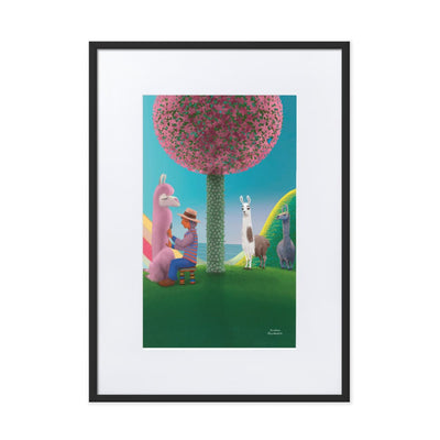 Print - Matte Paper Framed Poster With Mat board Black / 50×70 cm