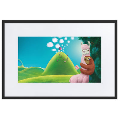 Print - Matte Paper Framed Poster With Mat board Black / 61×91 cm