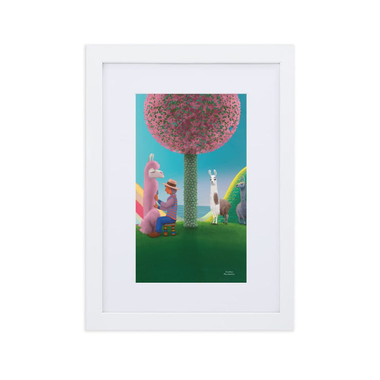 Print - Matte Paper Framed Poster With Mat board White / 21×30 cm