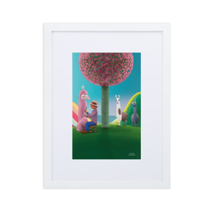 Print - Matte Paper Framed Poster With Mat board White / 30×40 cm