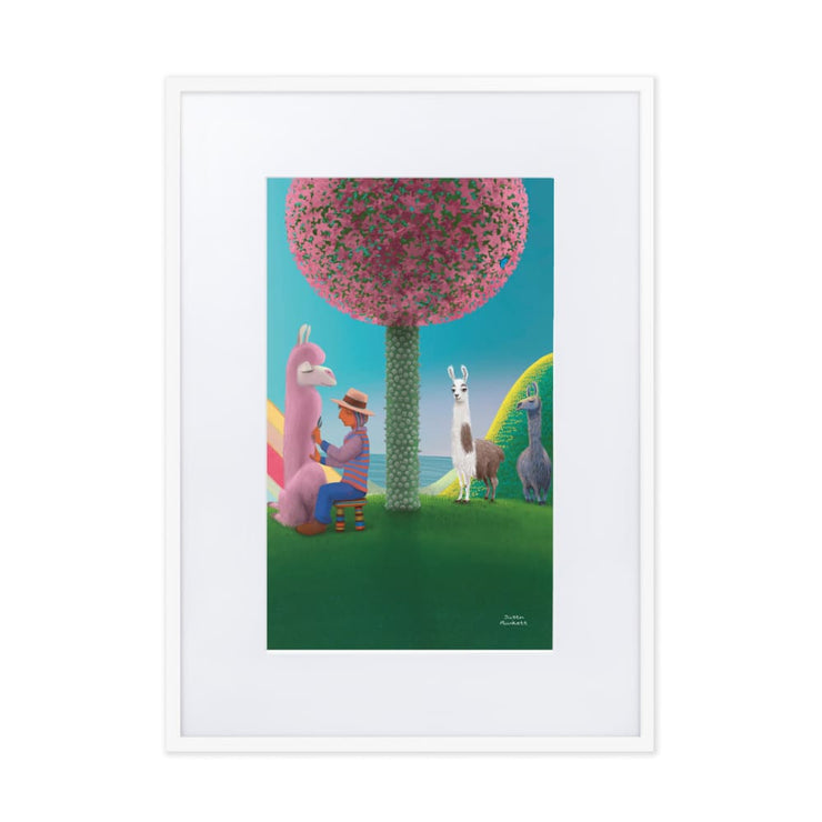 Print - Matte Paper Framed Poster With Mat board White / 50×70 cm