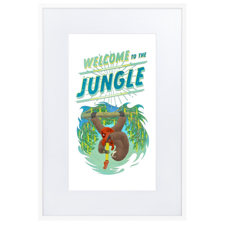 Print - Matte Paper Framed Poster With Mat board White / 61×91 cm