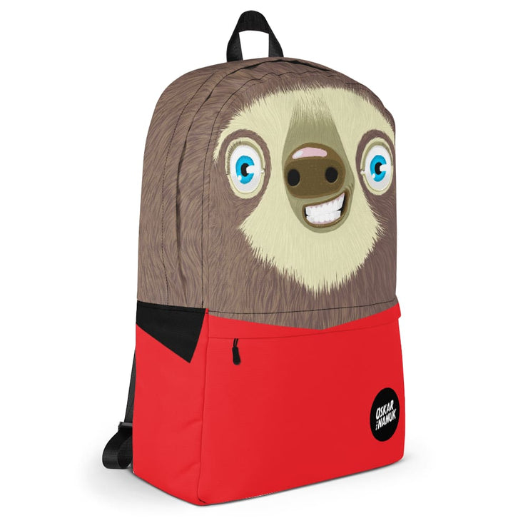Sloth Backpack - Red