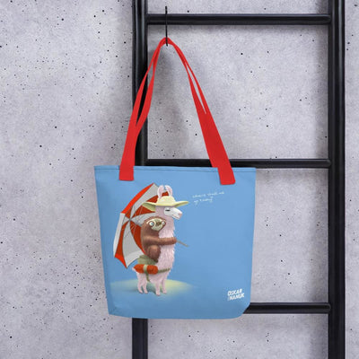 Tote bag - Beach Pals - blue Red