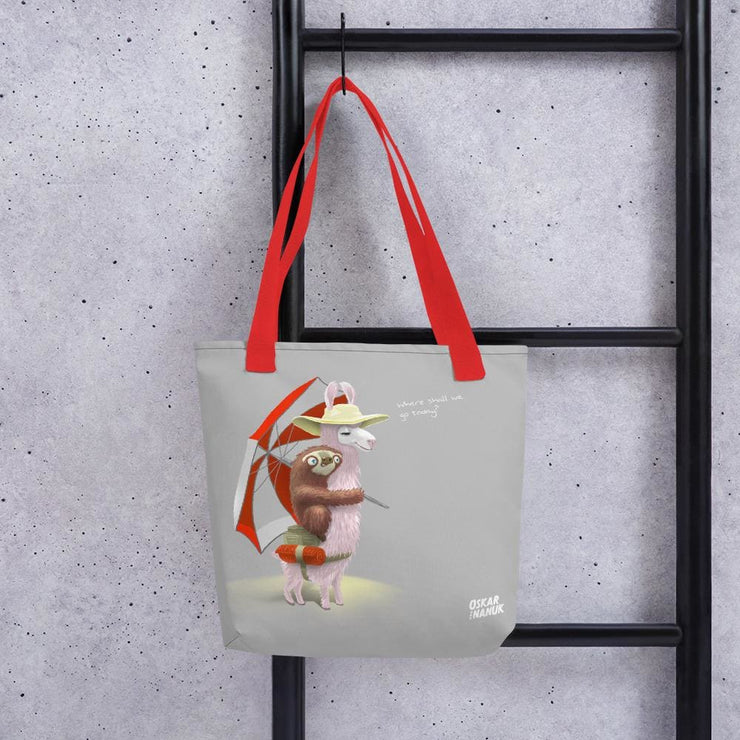 Tote bag - Beach Pals Red