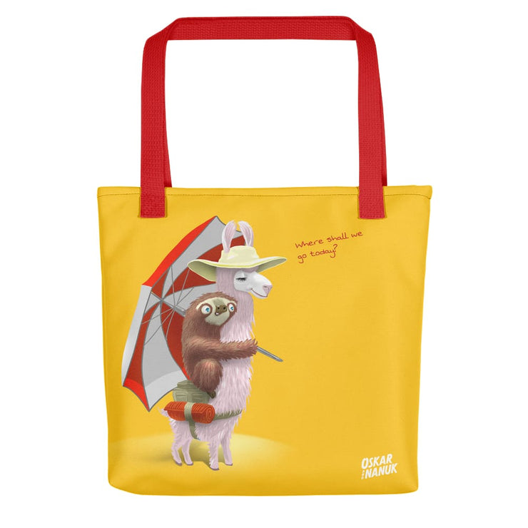 Tote bag - Beach Pals - Yellow Red