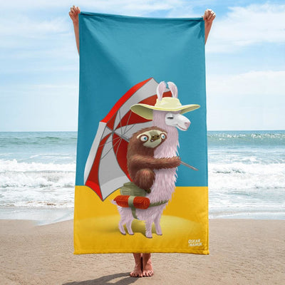 Towel - Beach Pals Turquoise and Yellow
