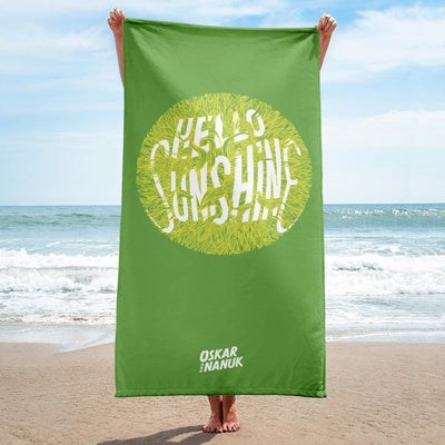 Towel - Hello Sunshine Green
