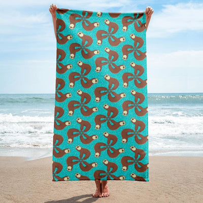 Towel - sloth pattern
