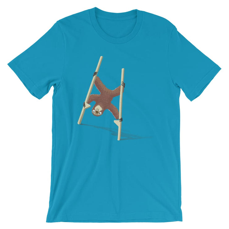 Unisex Short-Sleeve T-Shirt - Stilts sloth Aqua / S
