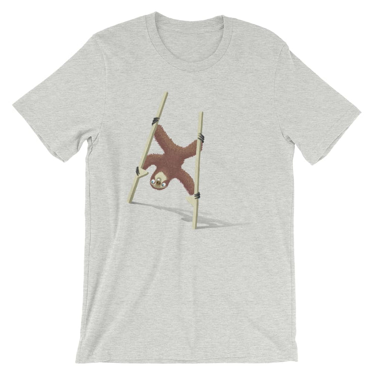 Unisex Short-Sleeve T-Shirt - Stilts sloth Athletic Heather / S