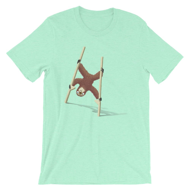 Unisex Short-Sleeve T-Shirt - Stilts sloth Heather Mint / S