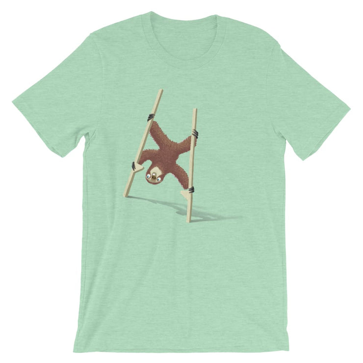 Unisex Short-Sleeve T-Shirt - Stilts sloth Heather Prism Mint / XS