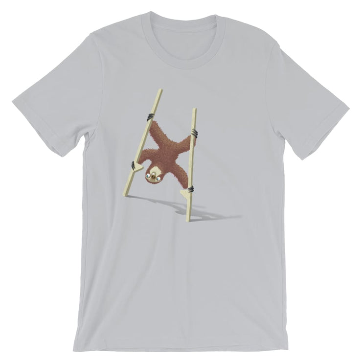 Unisex Short-Sleeve T-Shirt - Stilts sloth Silver / S