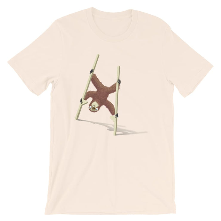 Unisex Short-Sleeve T-Shirt - Stilts sloth Soft Cream / S