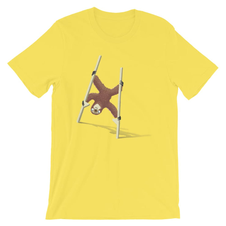 Unisex Short-Sleeve T-Shirt - Stilts sloth Yellow / S