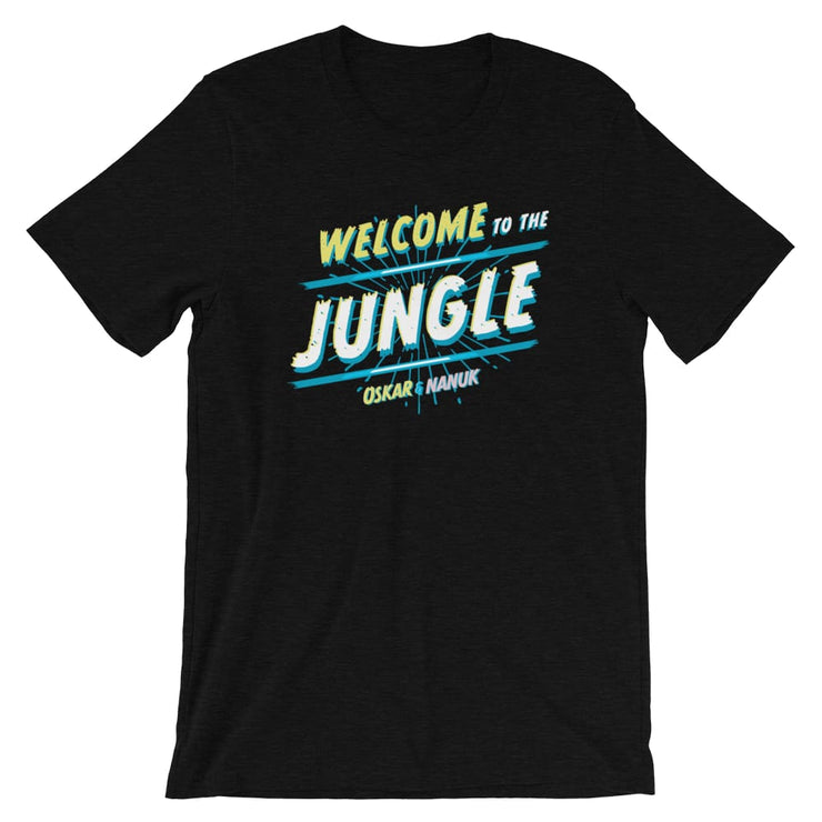 Unisex Short-Sleeve T-Shirt - Welcome to the Jungle Black Heather / XS