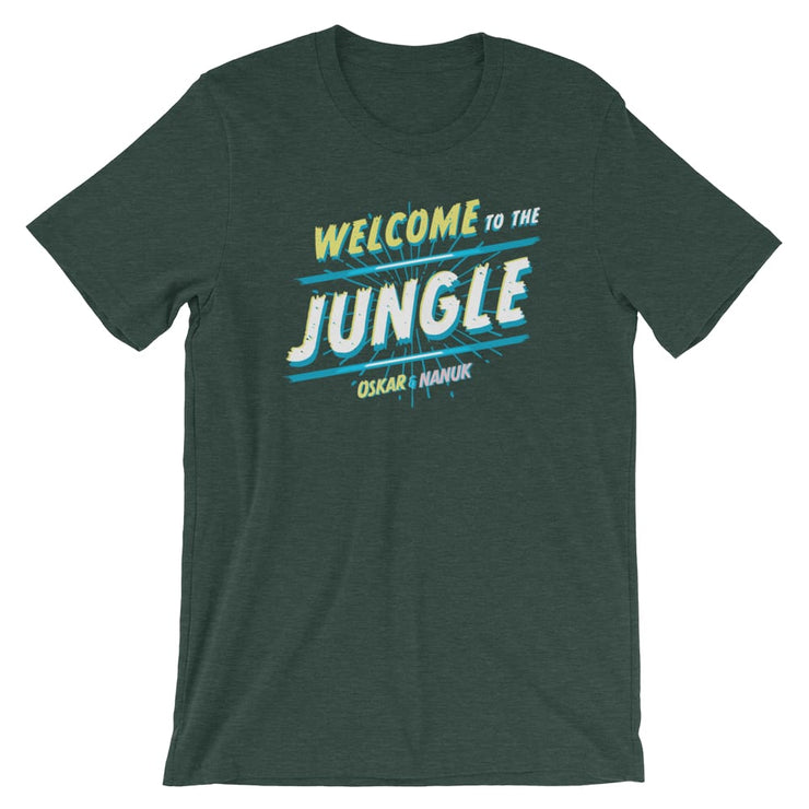 Unisex Short-Sleeve T-Shirt - Welcome to the Jungle Heather Forest / S