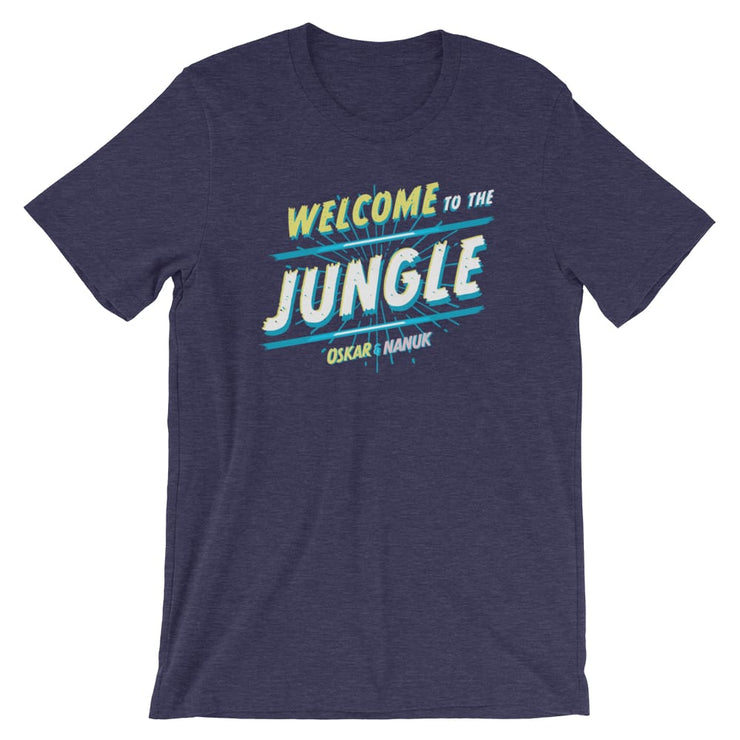 Unisex Short-Sleeve T-Shirt - Welcome to the Jungle Heather Midnight Navy / XS