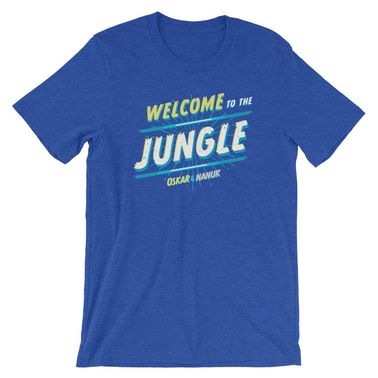 Unisex Short-Sleeve T-Shirt - Welcome to the Jungle Heather True Royal / S