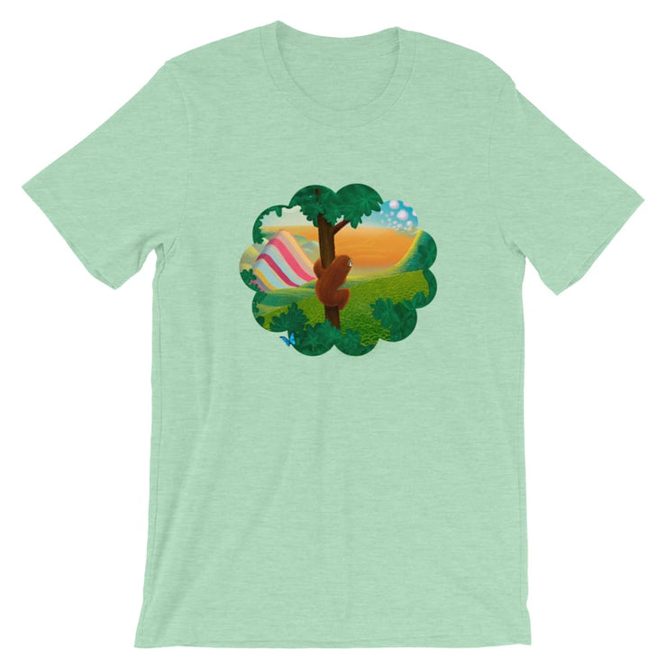 Unisex Short-Sleeve T-Shirt - Window to the World Heather Prism Mint / XS