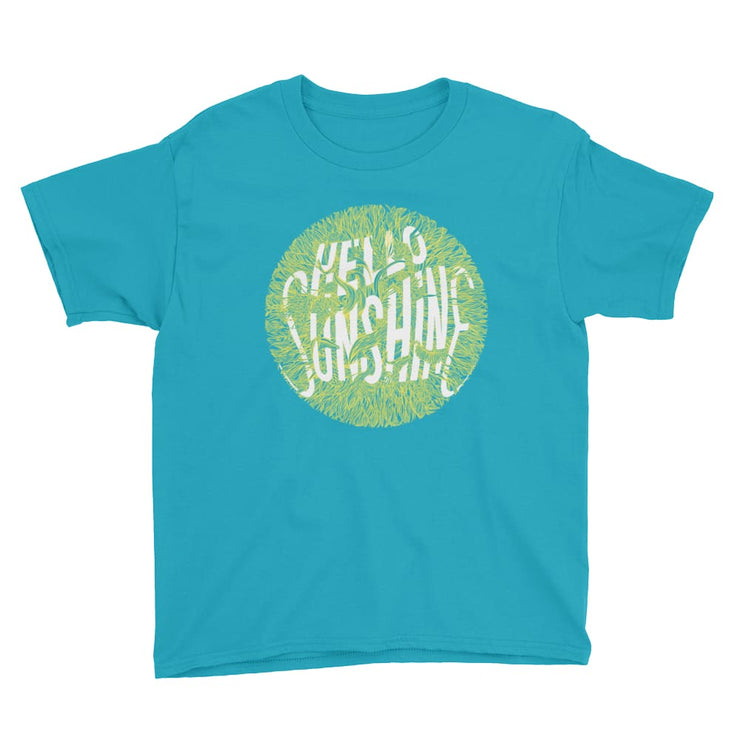 Youth Short Sleeve T-Shirt - Hello Sunshine Caribbean Blue / XS