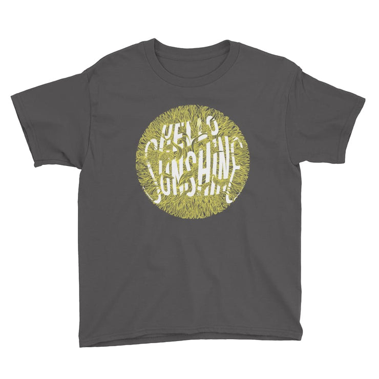 Youth Short Sleeve T-Shirt - Hello Sunshine Charcoal / XS
