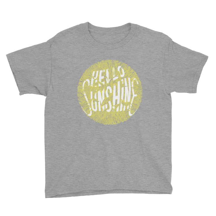 Youth Short Sleeve T-Shirt - Hello Sunshine Heather Grey / XS