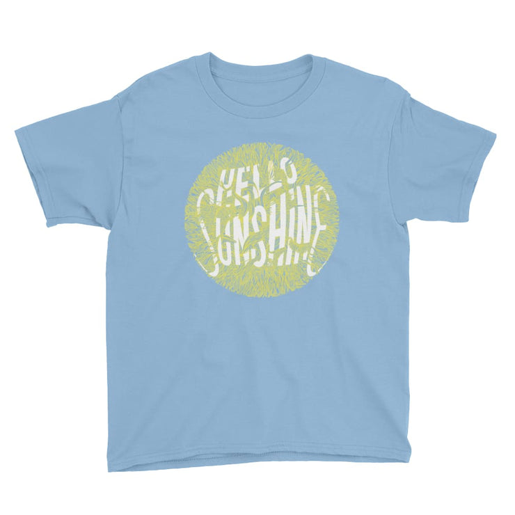 Youth Short Sleeve T-Shirt - Hello Sunshine Light Blue / XS